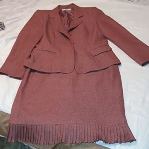 Two piece rust colored business suit